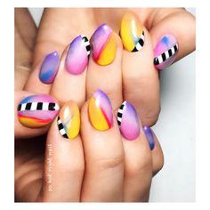 Beautiful Nail Designs To Finish Your Wardrobe – Your Beautiful Nails Diy Nail Designs, Colorful Nail Designs, Beautiful Nail Designs, Art Designs, Design Ideas, Concert Nails, 5sos Nails, Nail Art Diy, Diy Nails