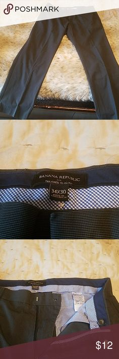 Navy Blue Banana Republic Pants - 34x30 Tailored Slim Fit, Navy Blue Pants.  34x30.  Good condition.  Can be dressed down or worm business casually. Banana Republic Pants Chinos & Khakis