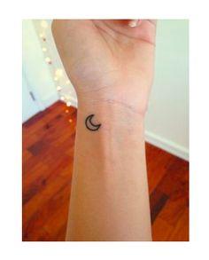 Small moon crescent tattoo ♡