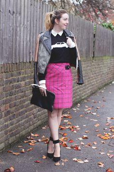 Pink Checked Kilt   http://bumpkinbetty.com #colour #tartan #autumn