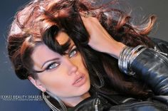 Dark hair really pops blue and green eyes :) Model Dana Hamm WWW.ICONICBEAUTYIMAGES.COM