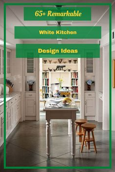 65+ Remarkable White Kitchen Design Ideas #kitchendesignideas Kitchen Design, Design Ideas, Modern, Table, Furniture, Home Decor, Trendy Tree, Decoration Home, Design Of Kitchen