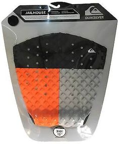 Other Surfing Accessories 71167: Quiksilver Jailhouse Traction Pad - Orange / Black / Grey - New BUY IT NOW ONLY: $39.95