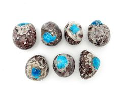 This listing is for ONE (1) Cavansite Stone. (RK46B11-01)  Beautiful round polished Cavansite stones, Rare find for these lovely stones, Azurite Set