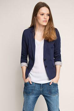 Esprit - Jersey stretchblazer van een katoenmix kopen in de online shop