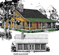 Big Covered Porch - 12912KN | Cottage, Mountain, Vacation, Narrow Lot, 1st Floor Master Suite, CAD Available, PDF, Wrap Around Porch | Architectural Designs