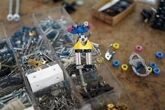 The Offbits - modular robot figures made of springs and bolts and screws, designed to be redesignable. It looks great, it feels great, all is great. Now on Kickstarter for the - next stage of production. #Crowdfunding #Pledge #TheOffBits #KickStarter #cool #toolkit #ReCycle #designerstoys #toys #makers #diy #design #checkitout #dope #geekystuff #geeks #WOW #crafts #make #creative #wemake #robots #face #camera #cute  #creative #creativity #FUN #Connect