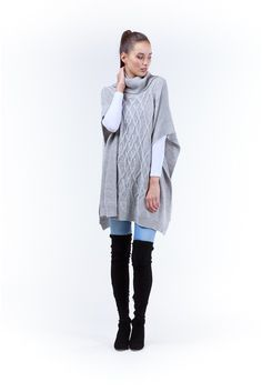 Augustine Merino Roll Neck Poncho Roll Neck, Trending Outfits, Winter Jackets, Closet, Collection, Fashion, Winter Coats, Moda, Armoire