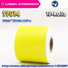 15 Rolls Dymo 99014 Yellow Color Generic Label 54mm*101mm 220Pcs Compatible for LabelWriter 450Turbo Printer Seiko SLP 440 450 #Affiliate