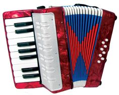Scarlatti Child's Piano Accordion, Red, with 17 treble keys, 8 bass. Ideal for children in stock at Hobgoblin Music. Buy online or in our Redwing Store. Piano Accordion, Hobgoblin, Pearl Color, Shopping Hacks, Bass, Musicals, Children, Student, Colors