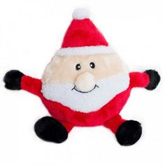 Holiday Brainey Dog Toy - Santa