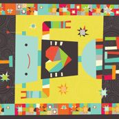 A Robot in Love Cheater Quilt - cynthiafrenette - Spoonflower