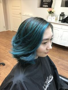 Beautiful blue hair. /by Claudia