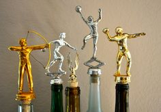 ANY THREE Vintage Trophy Wine Bottle Stoppers by alovelyletter, $30.00