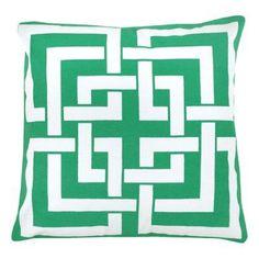 Milton Greens Stars Zaira Throw Pillow - Set of 2 Green - P9312-GR #9 (SET OF 2)