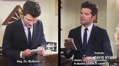 Ben Wyatt and Dr. Buttons