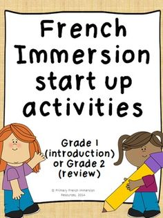 French Immersion start up activities Can be used for grade 1 (introduction) or… Learning French For Kids, Ways Of Learning, French Language Learning, Teaching French Immersion, Balle Anti Stress, French Teaching Resources, Teaching Ideas, Get To Know You Activities, Language Immersion