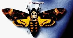 deaths head moth - silence of the lambs Hannibal Lecter, Moth Tattoo Design, Tattoo Designs, Spooky Tattoos, Cool Tattoos, Tatoos, Lamm Tattoo, Death Head Moth Tattoo, Moth Drawing