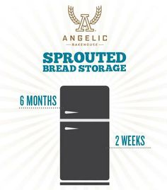 Ever wonder how long your #Sprouted breads will keep in the refrigerator vs the freezer?Let us help you! #AngelicBakehouse #Storage #FAQ