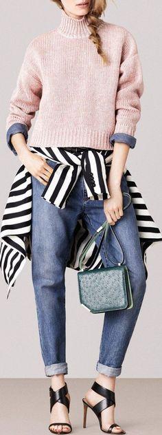 Color - Pink, Denim Blue & Stripes - 2015 Bally