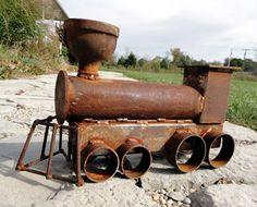 .welded scrap metal art