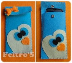 Capa para telemóvel!  Pinguim azul! <3