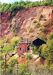 Copper mine of the The Copper Basin in Tennessee