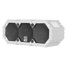 Altec Lansing LifeJacket Next Generation Ultra Portable Wireless Bluetooth Speaker - Grey  https://topcellulardeals.com/product/altec-lansing-lifejacket-next-generation-ultra-portable-wireless-bluetooth-speaker/?attribute_pa_color=grey  Boasting a heavy-duty, washable rubberized skin that is everything proof- IP67 rated -waterproof, dustproof and shockproof; and it floats so the music will play on- no matter what. Be impressed with amazing sound quality- dual 2.0″ neody
