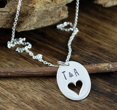 Jewelry Anniversary Gifts – A Buying Guide For Men – Gift Ideas Anywhere Mom Jewelry, Unique Jewelry, Girlfriend Anniversary Gifts, Hand Stamped Jewelry, Gifts For Wife, Mothers, Initials, Arrow Necklace, Handmade Gifts