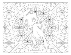 Free printable Pokemon coloring page-Mew. Coloring fun for all ages, adults and children. Pokemon Mew, Baby Pokemon, Pokemon Craft, Cute Coloring Pages, Coloring Pages For Kids, Free Coloring, Coloring Books, Mandala Pokémon, Pokemon Coloring Sheets