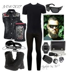 """Heavy Metal"" by angelique-von-tod ❤ liked on Polyvore featuring Topman, Simplex Apparel, Bates, Dragon Alliance, Armitron, M&F Western, men's fashion and menswear"