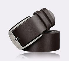 Shop for Men Metal Buckle PU Leather Waistband Classic Pin Buckle Belts - Brown - Discover the newest styles Men's Belts up to off. Real Leather Belt, Faux Leather Belts, Leather Buckle, Leather Men, Metal Buckles, Belt Buckles, Luxury Belts, Designer Belts, Brown Belt