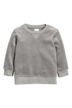 Velour sweatshirt - Grey - Kids | H&M GB