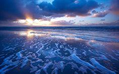 HD Ocean Surf Waves Foam Desktop Images Wallpaper
