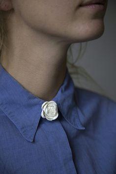 Handmade porcelain brooch by GAIJA jevelry