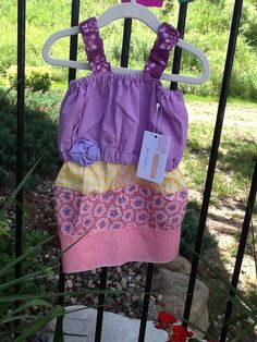 Upcycled scraps = cute girl sundress!
