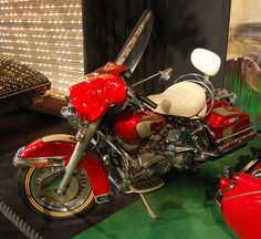 Elvis Presley's Motorcycle At the Graceland Mansion In Memphis, Tennessee