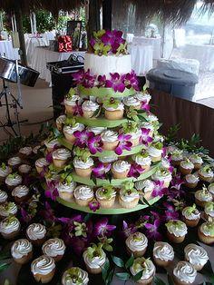 Love this cupcake set up!