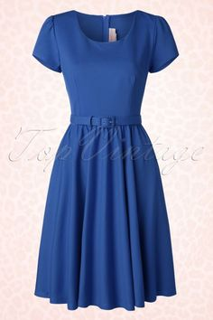 Pinup Couture Katie Semi Swing Dress Blue 102 20 16437 20150729 0006W