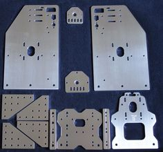 Openbuilds Ox CNC Tall Aluminum Gantry Plates 4 w x Spacers Z Plates 11 Hole | eBay