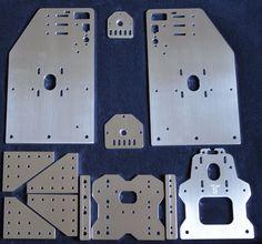 Openbuilds Ox CNC Tall Aluminum Gantry Plates 4 w x Spacers Z Plates 11 Hole   eBay