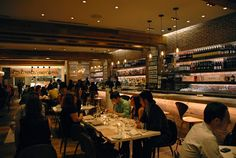 DOCG is an upscale casual enoteca that offers pizzas and  other items, many cooked in a wood-fire grill.