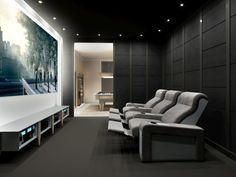 Home Theater Room Design, Home Cinema Room, At Home Movie Theater, Home Theater Rooms, Theatre Design, Luxury Sofa, Luxury Interior, Modern Interior, Home Cinema Seating