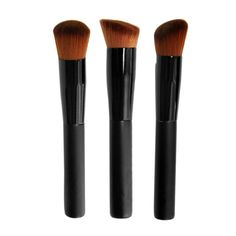 3 Shapes of Makeup brushes Powder Concealer Blush Liquid Foundation Face Make up Brush Tools Professional For Beauty 2017 AP263 #Affiliate