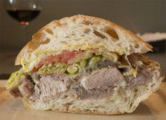 Porchetta sandwich from Chop in Portland.