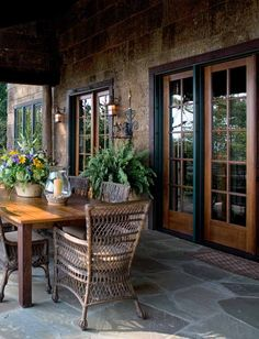MGPB Architects ~ this is very pretty.  I like the flagstone but would need a little more color in the space.