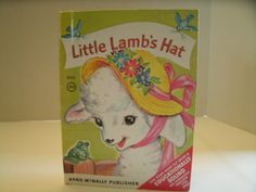 Little Lamb's Hat // Vintage 1950s Children's Book // Rand McNally Elf Book // Etsy // LoveVintageAlways