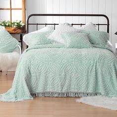 Bianca Kalia Bedspread Set Soft Blue