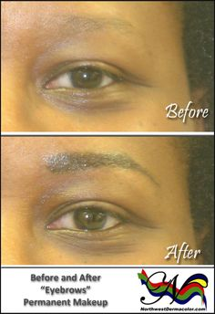 """My """"Before and After"""" for this month features our Permanent Makeup procedure for Eyebrows."""