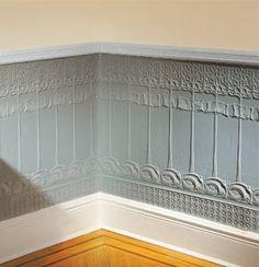 1000 images about art nouveau interior decorating on pinterest interieur art nouveau and - Wallpaper imitatie lambrisering ...